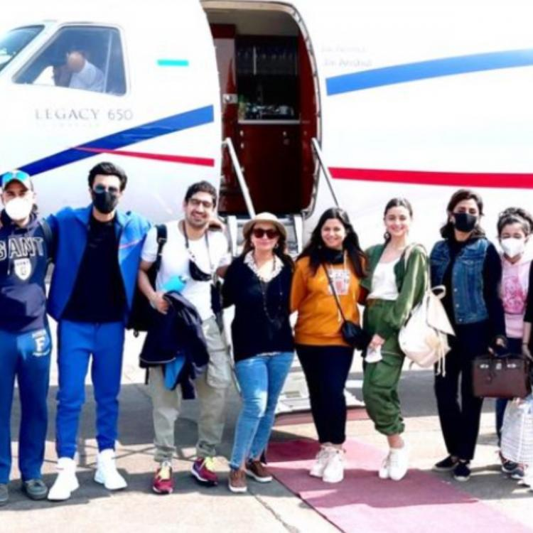 New Year 2021: Alia Bhatt, Ranbir Kapoor & others pose for a happy PIC as they end their Ranthambore trip