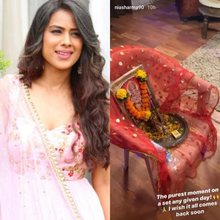 Nia Sharma wishes to get back to her shoots soon; Shares the purest moment from the sets