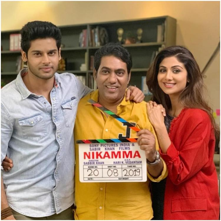Shilpa Shetty shares pictures from the sets of her film Nikamma as she begins shooting; Check it out