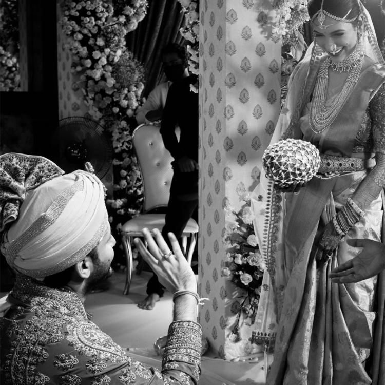 Nithiin and Shalini can't take eyes off each other in this UNSEEN monochrome photo from their wedding
