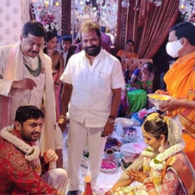 Nithiin and Shalini exchange wedding vows in the presence of family members; See inside PHOTOS