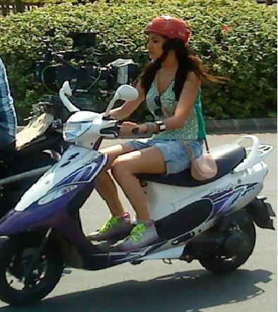 Photos,Anushka Sharma,ad shoot,TVS scooty