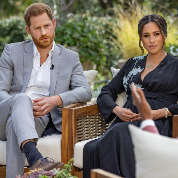 Oprah Winfrey revealed that she didn't meet Meghan Markle and Prince Harry before their tell-all interview.