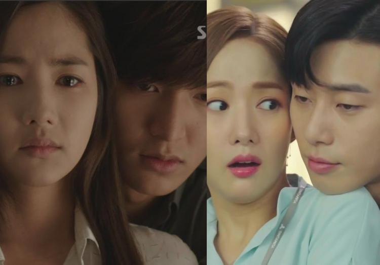 Park Min-young starred opposite Park Seo-joon in What's Wrong with Secretary Kim and Lee Min-ho in City Hunter.