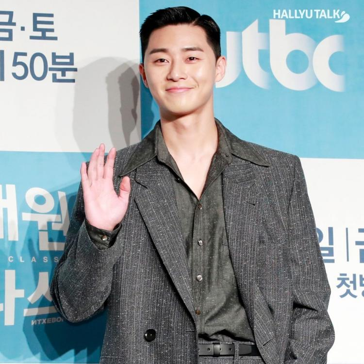 Famous actor Park Seo Joon at the press conference of his drama Itaewon Class in 2020