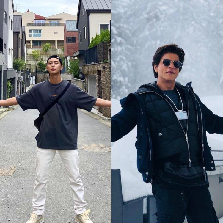 Park Seo Joon spreads his arms out to embrace the pleasant day and we cannot stop picturing Shah Rukh Khan