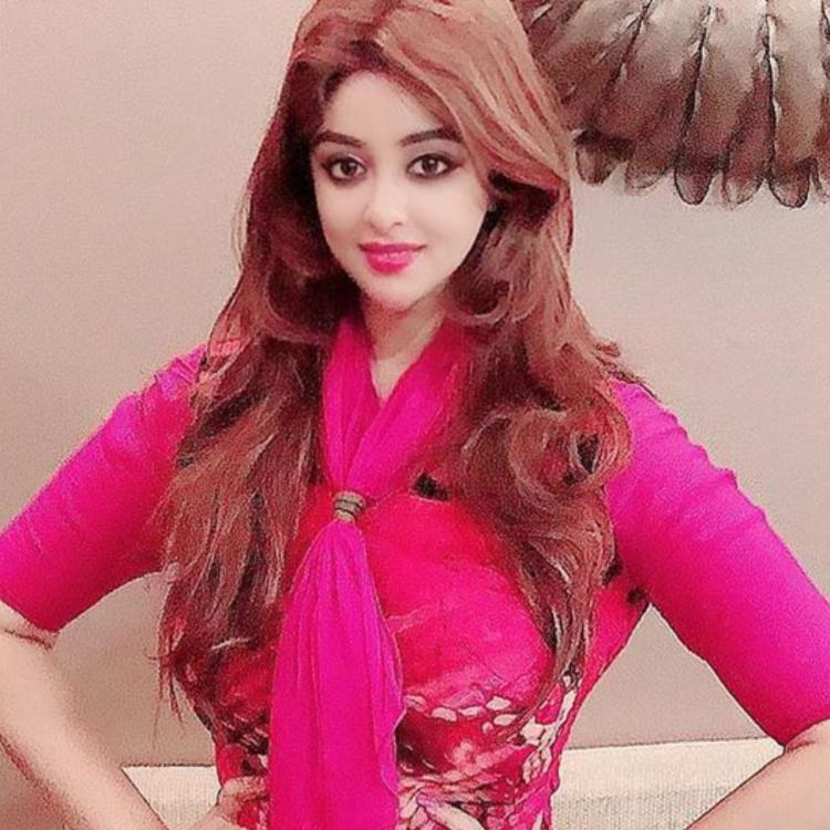 Payal Ghosh in pink outfit.