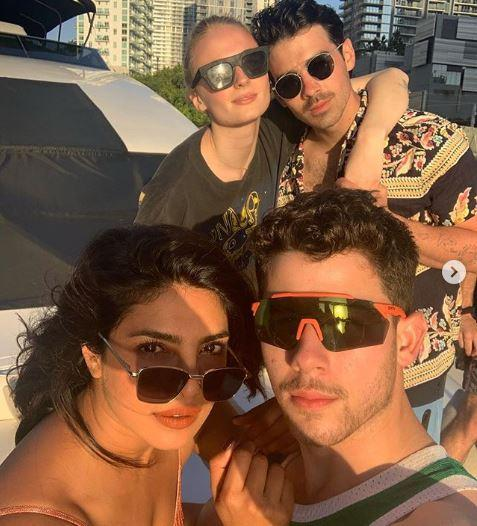 Priyanka Chopra shares pictures with Nick Jonas, Joe Jonas and Sophie turner & calls it the best day off ever