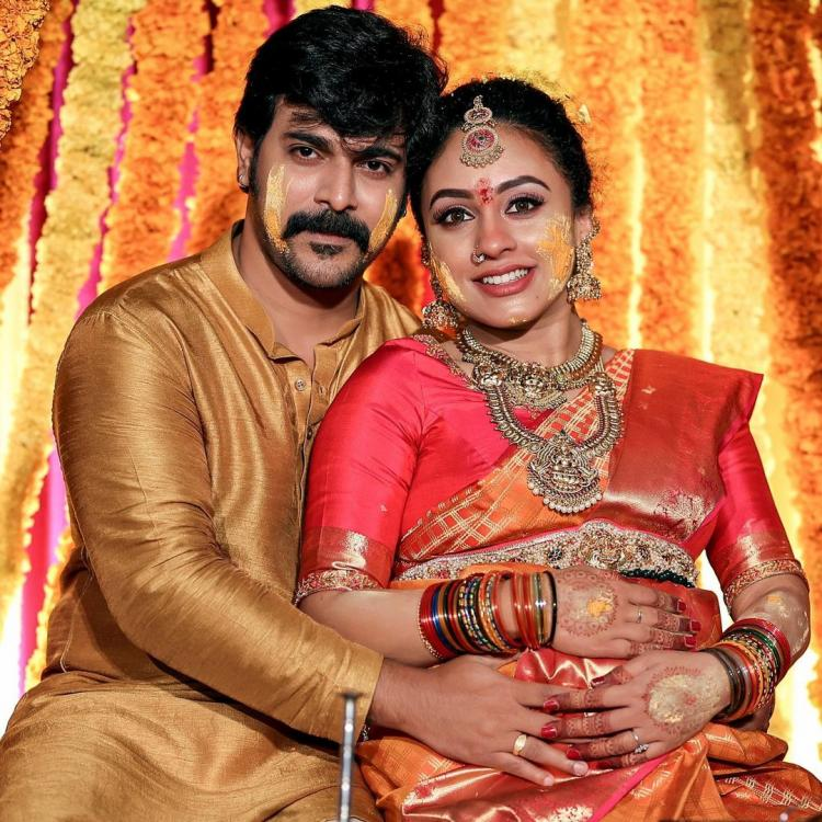 Pearle Maaney, Srinish Aravind baby shower