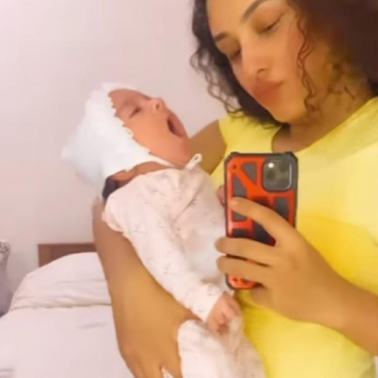 Pearle Maaney's little pumpkin is cute as a button as she yawns her way to sleep; Watch video