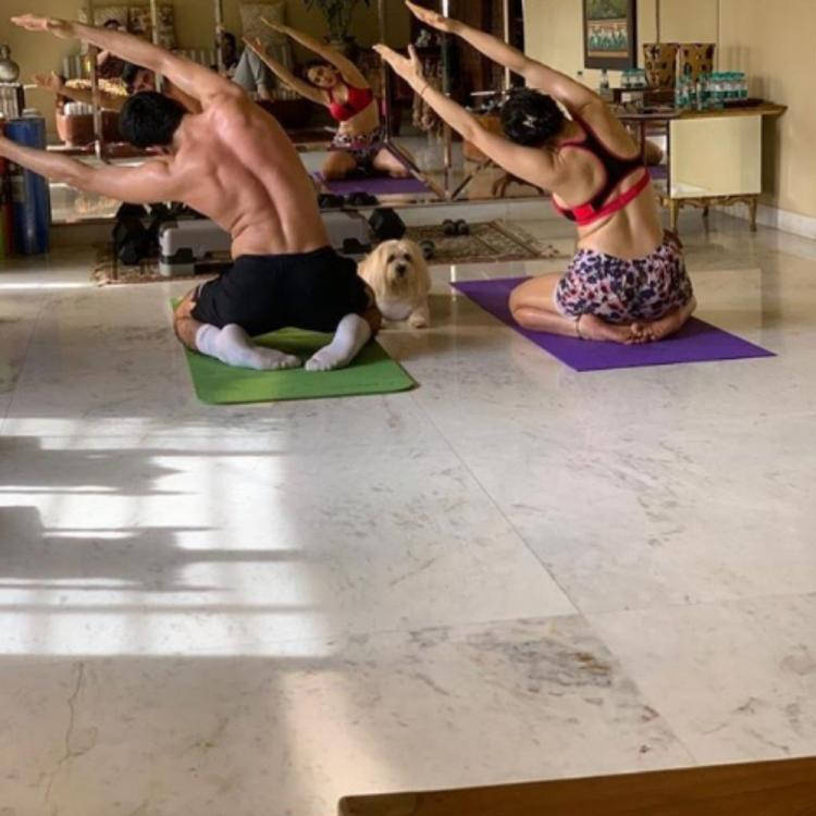 PHOTO: Sara Ali Khan and Ibrahim Ali Khan inspire us to stay fit as they practice yoga at home