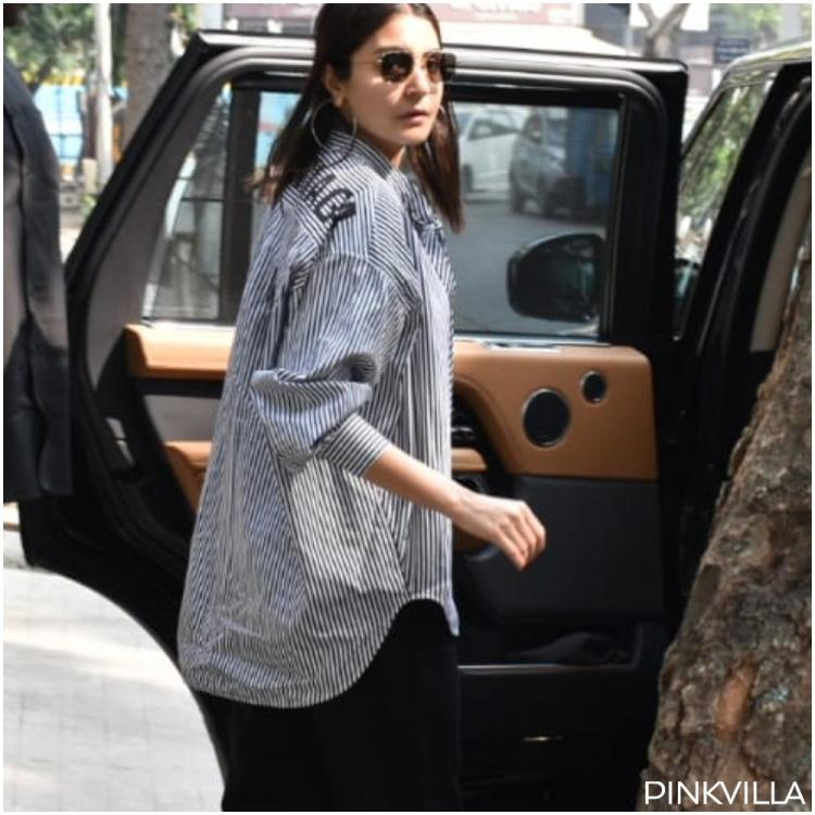 PHOTOS: Anushka Sharma slays in a monochrome oversized shirt with pants as she goes out and about in the city