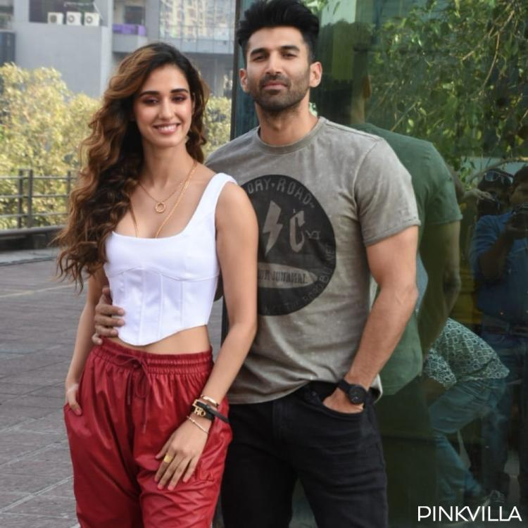 Photos Disha Patani Looks Chic While Aditya Roy Kapur Looks Dapper In Casuals At Malang Promotions Pinkvilla