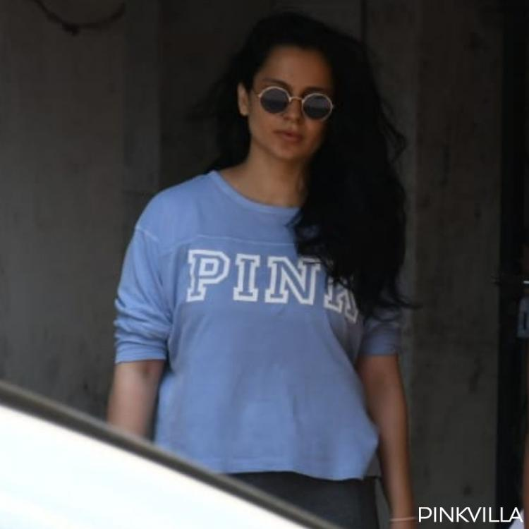 PHOTOS: Kangana Ranaut opts for breezy blue sweatshirt with tights for her weekend Pilates session
