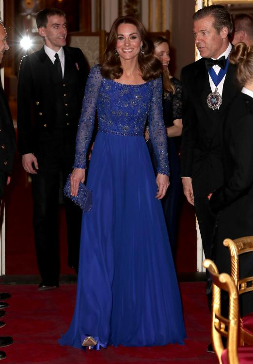Kate Middleton had earlier donned the gorgeous sapphire blue Jenny Packham gown during her and Prince William's royal tour of India and Bhutan in 2016.