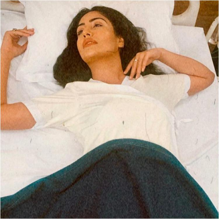 PHOTOS: Sanjivani's Surbhi Chandna shows us how to slay in hospital clothes as she turns muse for Namit Khanna
