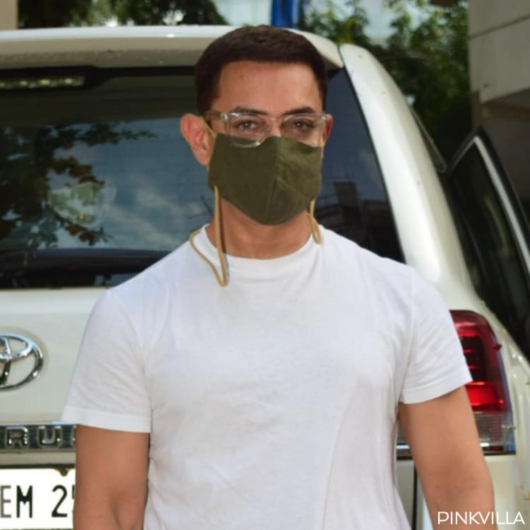 PHOTOS: Aamir Khan adheres to the new normal as he masks up while stepping out in the city