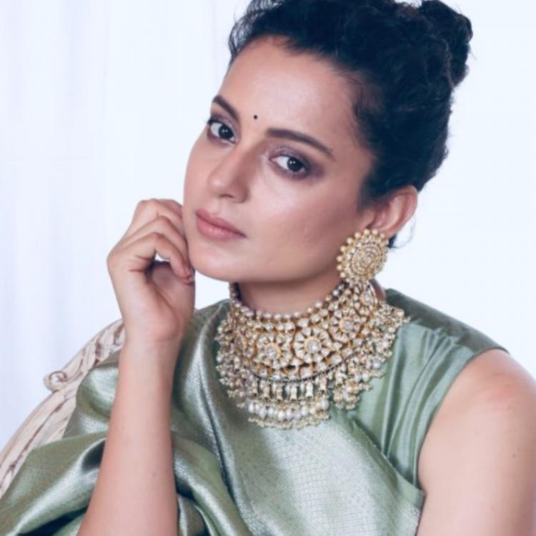 PHOTOS: Kangana Ranaut personifies grace in a saree as she decks up for her brother's pre wedding festivities