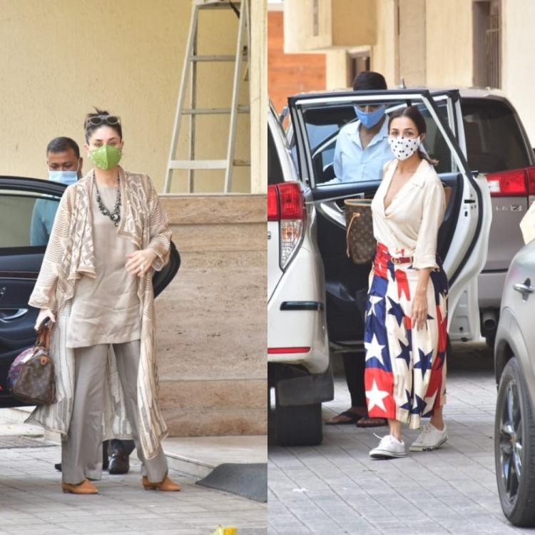 PHOTOS: Kareena Kapoor Khan & Malaika Arora step out in style as they get papped outside Amrita Arora's house