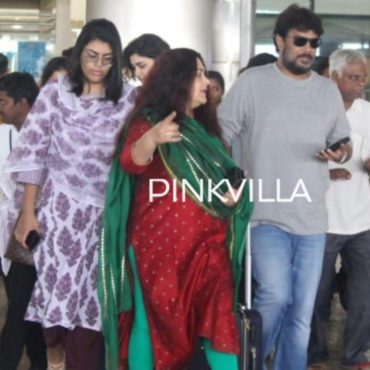 PHOTOS: Khushbu Sundar spotted at the airport with family as they return from New Year celebration