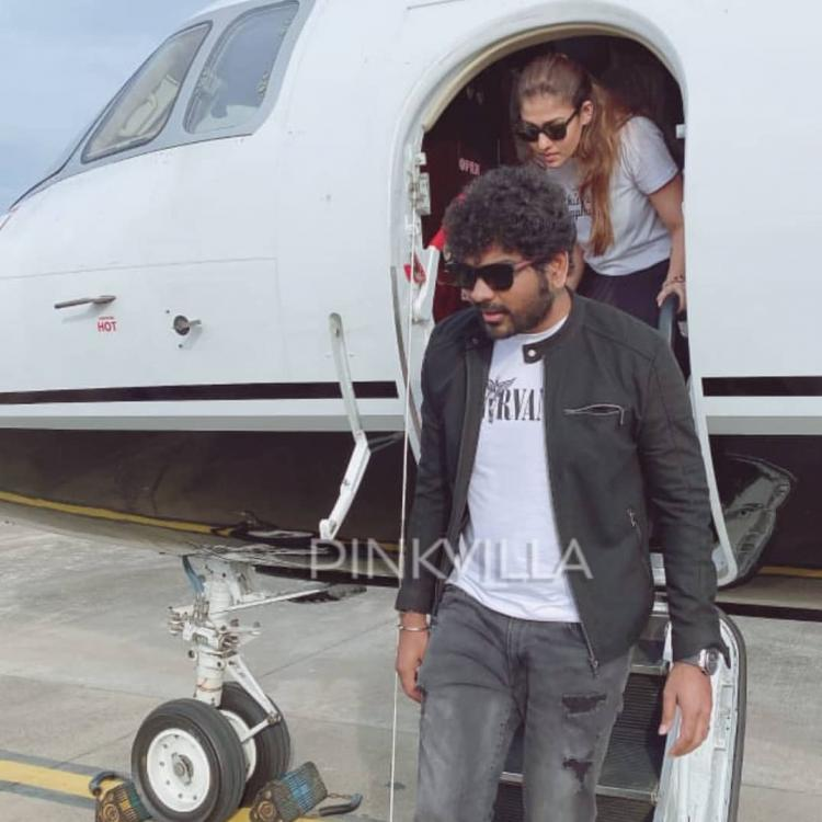 Nayanthara and Vignesh Shivan return to Chennai in a private jet