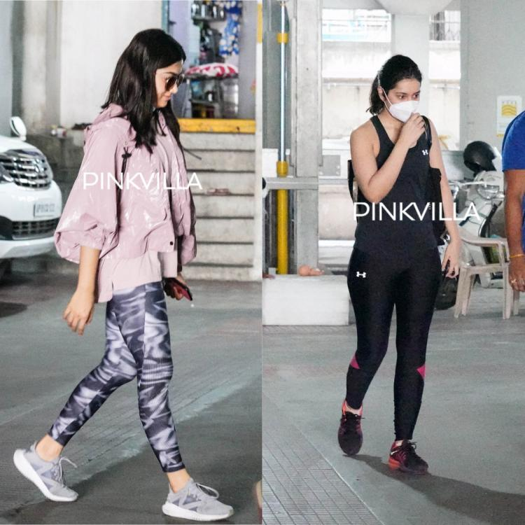 PHOTOS: Rashmika Mandanna arrives at airport in casual wear; Raashi Khanna spotted as she steps out of gym