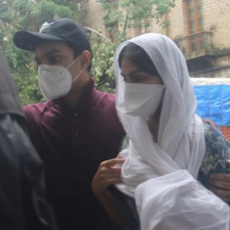 PHOTOS: Rhea Chakraborty arrives with Showik for 4th day of questioning by CBI in Sushant Singh Rajput case