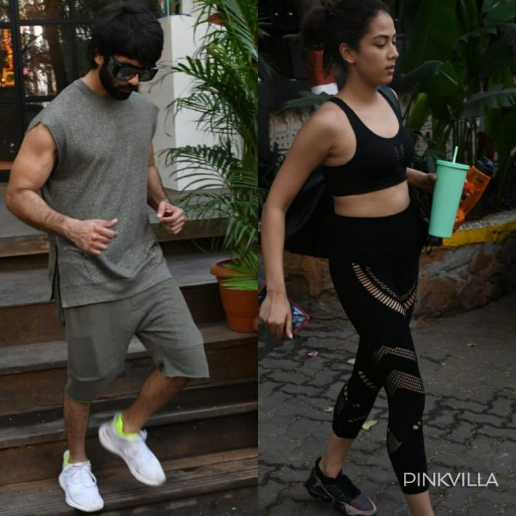 PHOTOS: Shahid Kapoor and Mira Rajput slay in monochrome athleisure; Take their gym looks a notch above