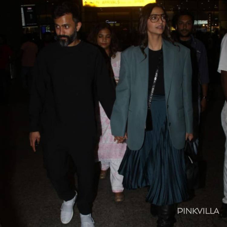 PHOTOS: Sonam Kapoor & Anand Ahuja get papped as they head out of the airport in style