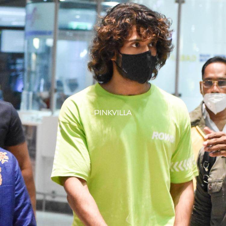 PHOTOS: Vijay Deverakonda keeps it simple in a neon t shirt & joggers as he arrives at the airport