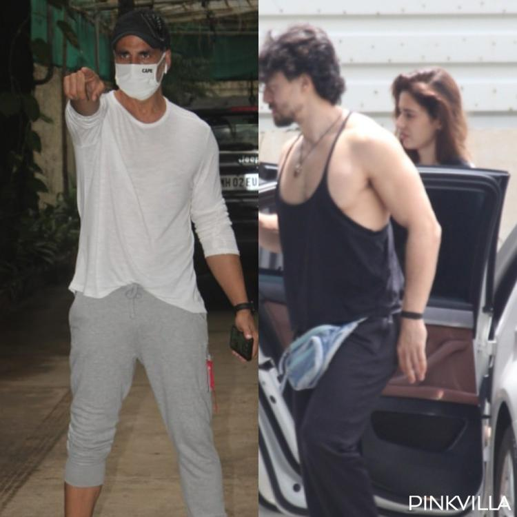 PICS: Akshay Kumar shows off his swag as he arrives for dubbing; Tiger Shroff & Disha Patani head out together