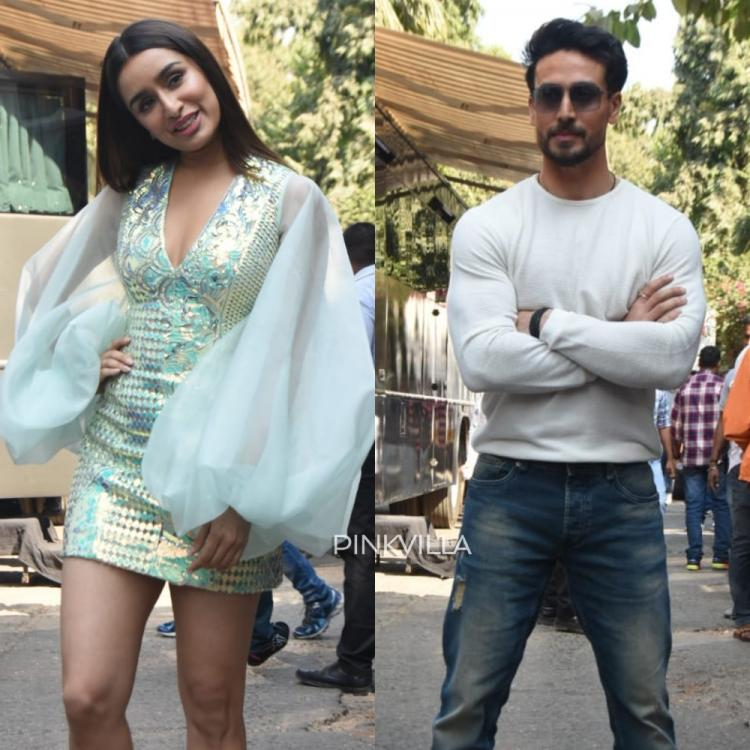 PICS Shraddha Kapoor wows in a dramatic lantern sleeve dress; Tiger Shroff looks suave at Baaghi 3 promotions