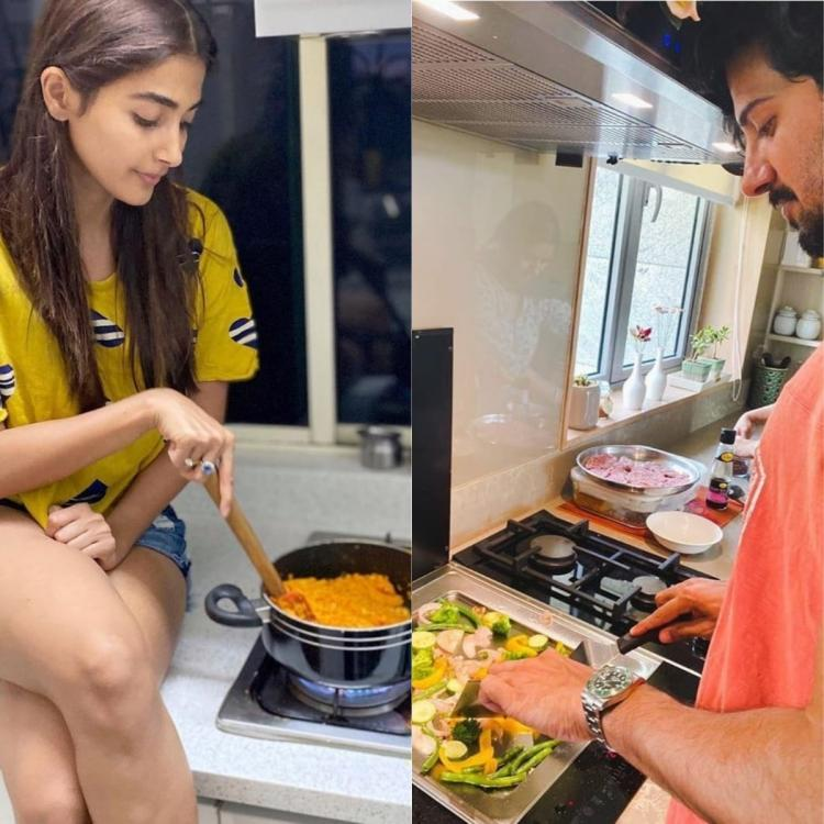 Pooja Hegde, Dulquer Salmaan and other South celebrities turn chefs during quarantine; See Photos and Videos