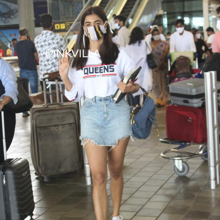 Pooja Hegde nails ripped denim attire as she arrives at the airport; See PHOTOS