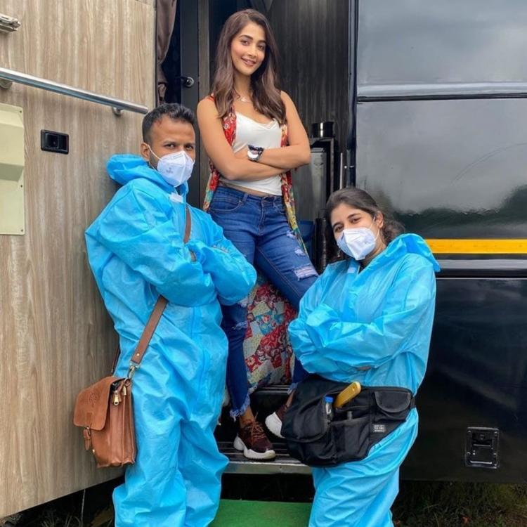 Pooja Hegde shares BTS PHOTO from Most Eligible Bachelor sets as she joins the shooting