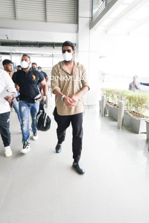 Prabhas spotted at Hyderabad airport