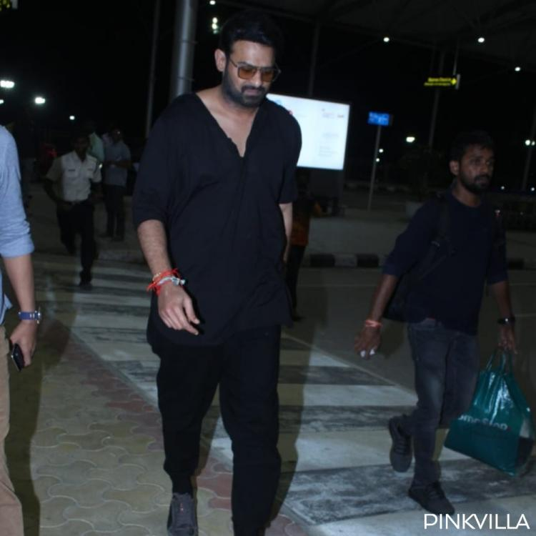 PHOTOS: Prabhas looks dapper in an all black black outfit as he gets clicked at the airport premises