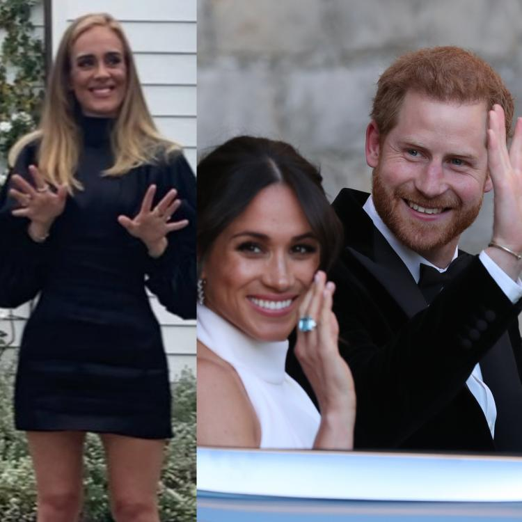 Prince Harry and Meghan Markle stay just a few minutes away from Adele in Los Angeles.