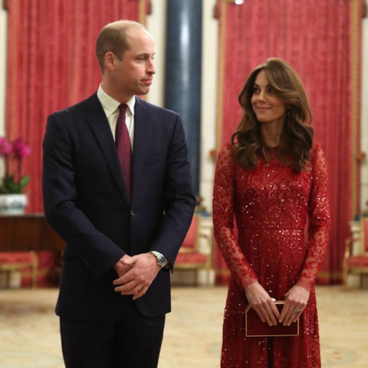 PHOTOS: Kate Middleton painted the Buckingham Palace red with her sequin dress during a Royal engagement