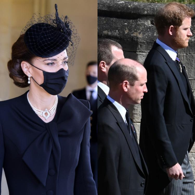 Prince Harry, Prince William and Kate Middleton reunite at Prince Philip's funeral