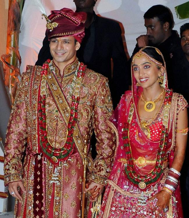 Photos,Vivek Oberoi,star wedding,priyanka alva