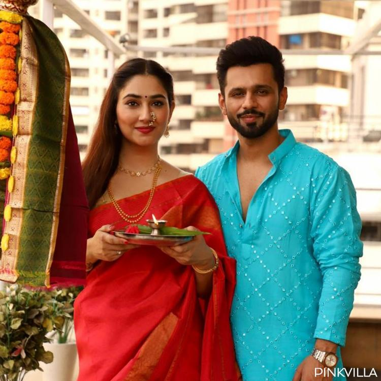 Rahul Vaidya and Disha Parmar make for a perfect couple as they celebrate Gudi Padwa together; See Pics
