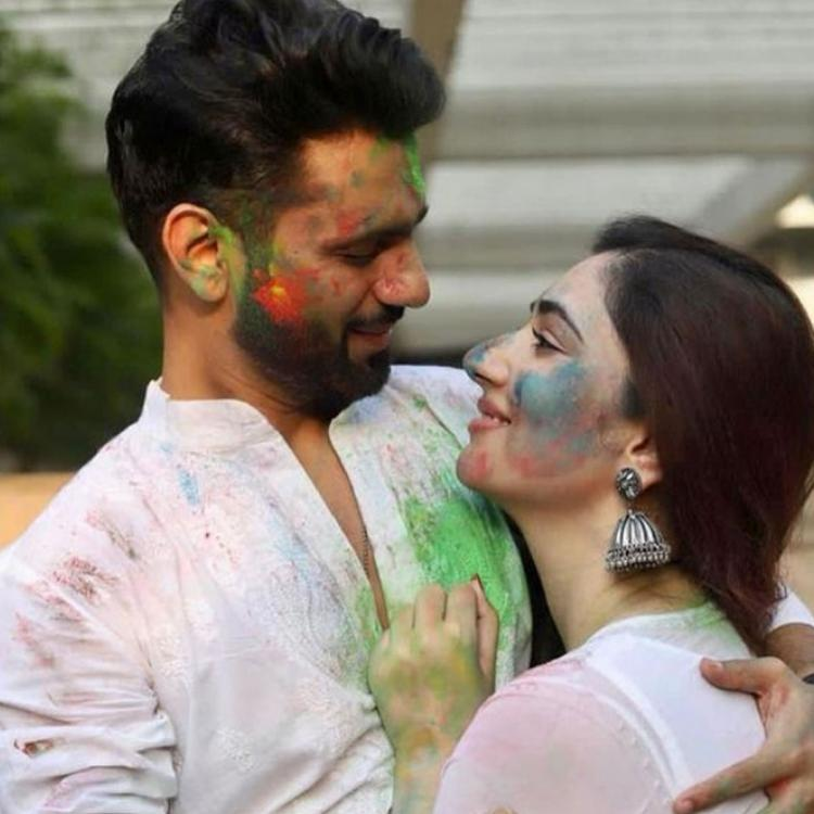 Bigg Boss 14's Rahul Vaidya's Holi celebration with Disha Parmar is all about fun, love and laughter; See Pics