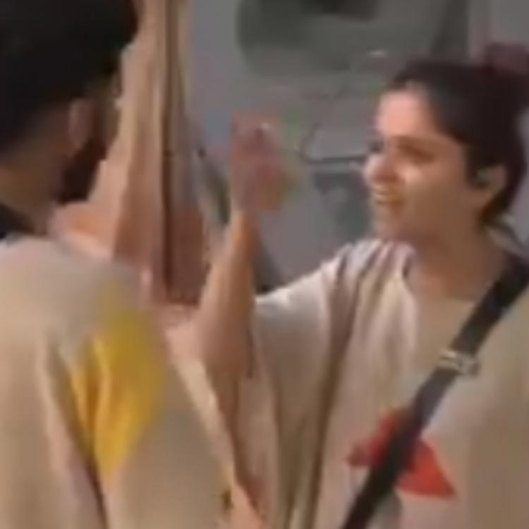 Rubina and Rahul have an argument and drag each other's partners during a task