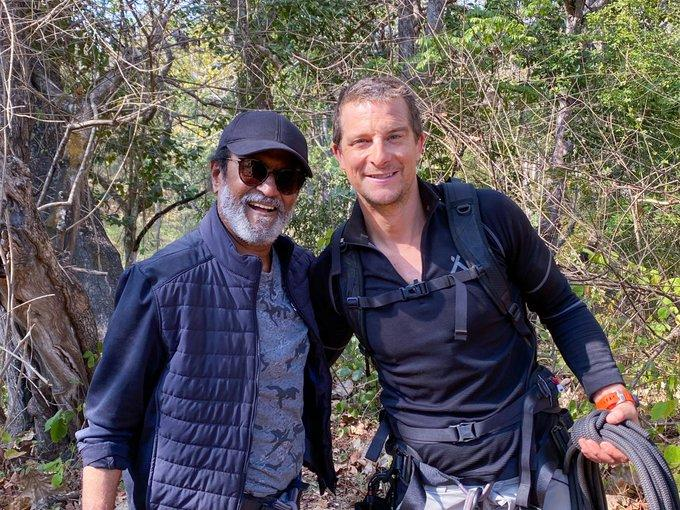 First PICS: Rajinikanth sports a cool look as he shoots Man vs Wild with Bear Grylls at Bandipur National Park