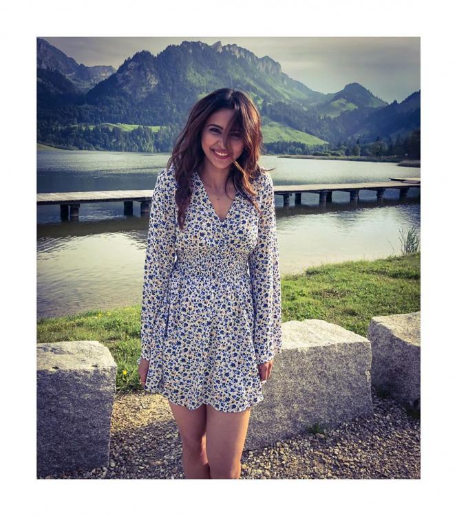 Manmadhudu 2: Rakul Preet shares a cute photo 'to chase the blues away' as she shoots in Switzerland