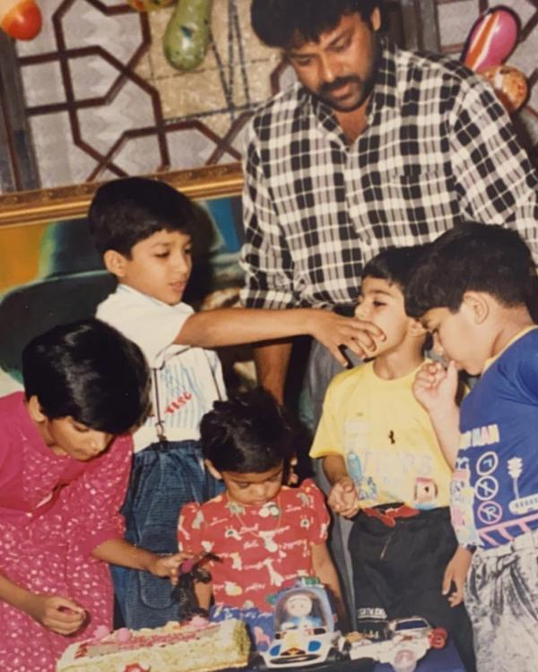 Ram Charan shares throwback photo with Allu Arjun; Says 'Feeding you with fond memories from our childhood'