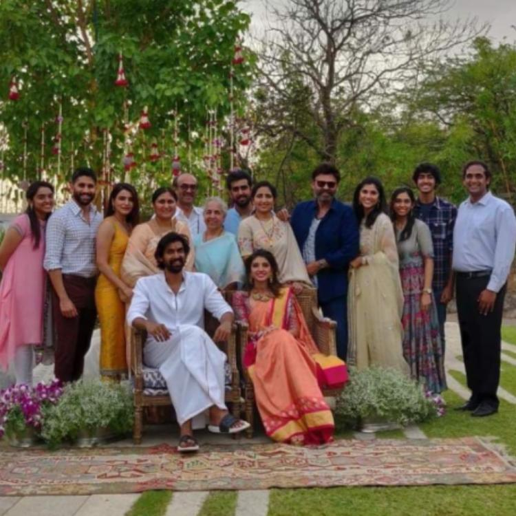 Rana Daggubati & Miheeka Roka: Samantha Akkineni, Naga Chaitanya & others pose for a perfect family PIC