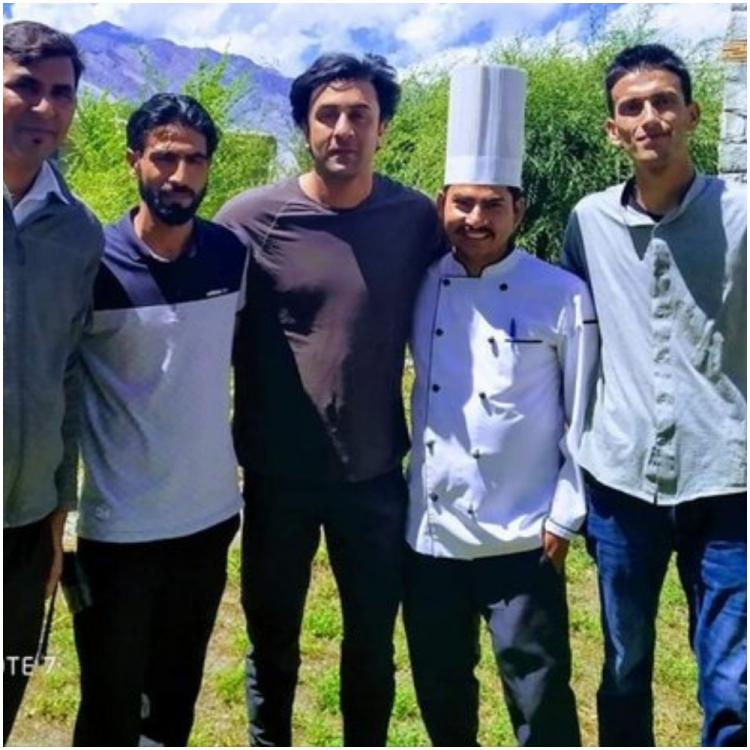 Shamshera: Ranbir Kapoor is all smiles as he strikes a pose with fans while shooting in Ladakh