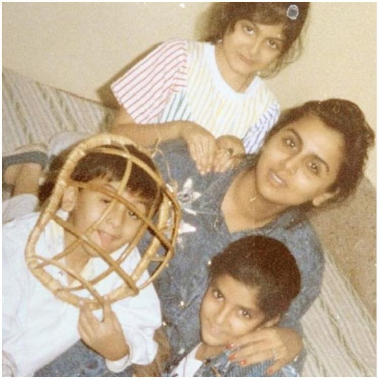 Ranbir Kapoor is a complete goofball in a childhood photo with Riddhima Kapoor & mom Neetu Kapoor; Take a look
